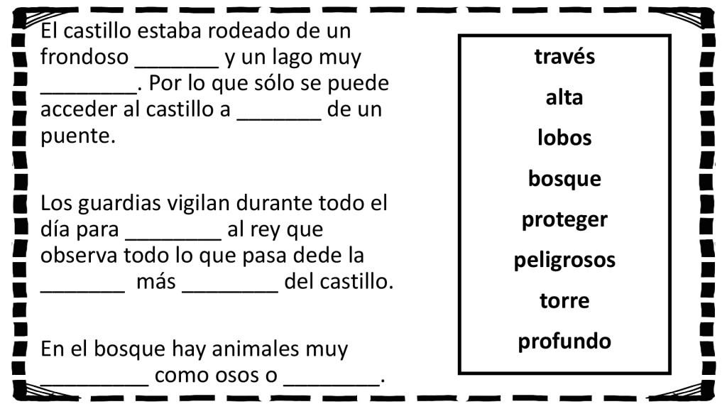 Comprensión Lectora Rellena Los Huecos Para Completar Los Siguientes Breves Textos Orientacion Andujar