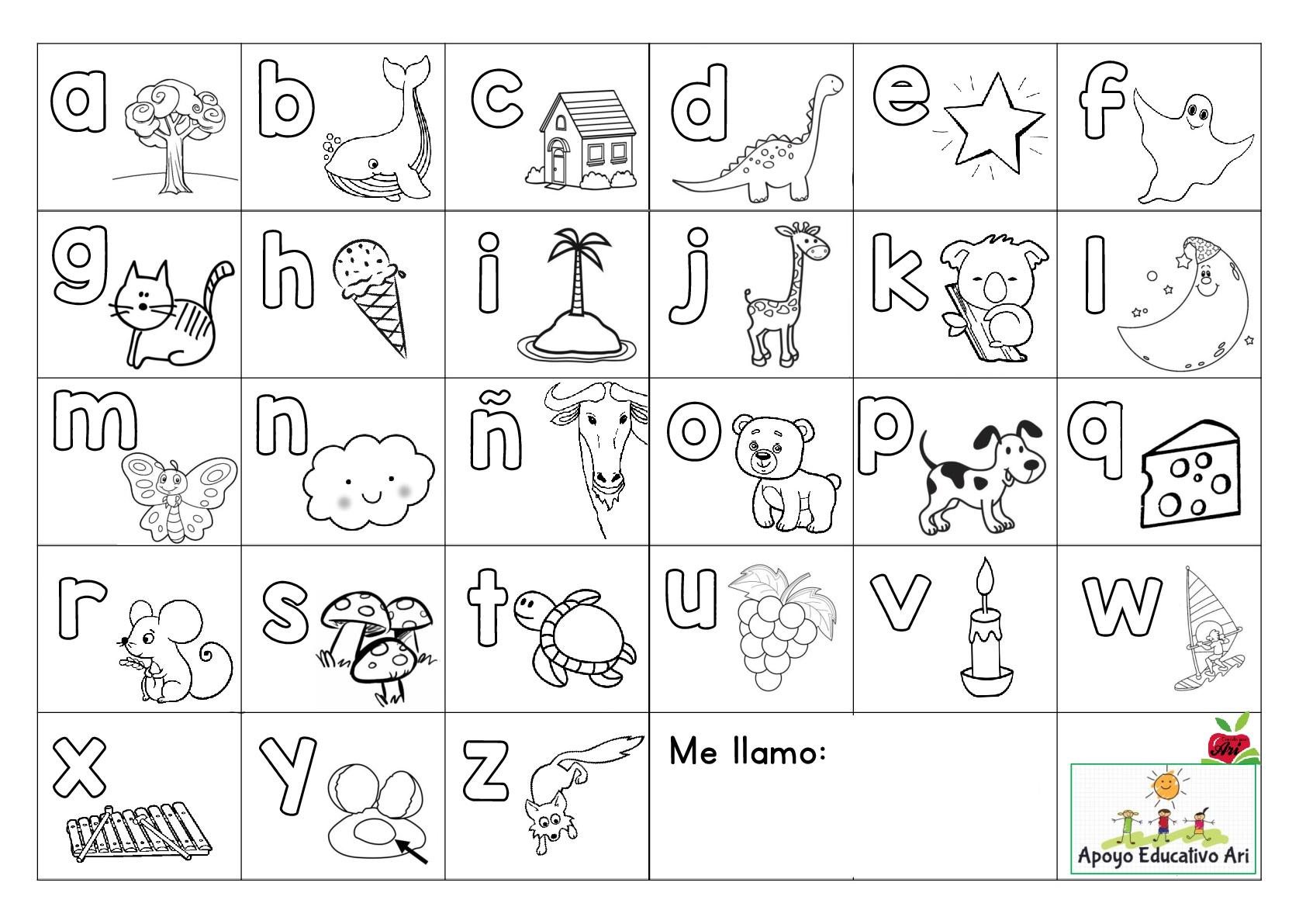 Super abecedario para colorear y poner en las mesas  Orientacion