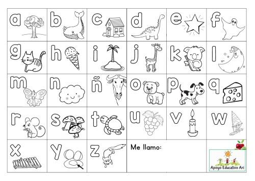 Super abecedario para colorear y poner en las mesas -Orientacion Andujar