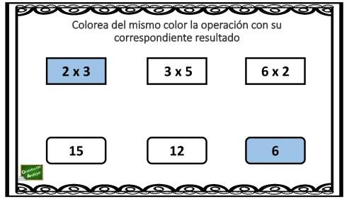 Ejercicio para practicar las tablas de multiplicar: Colorea del ...