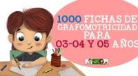 1000 FICHAS DE GRAFOMOTRICIDAD PARA 03-04 Y 05 AÑOS