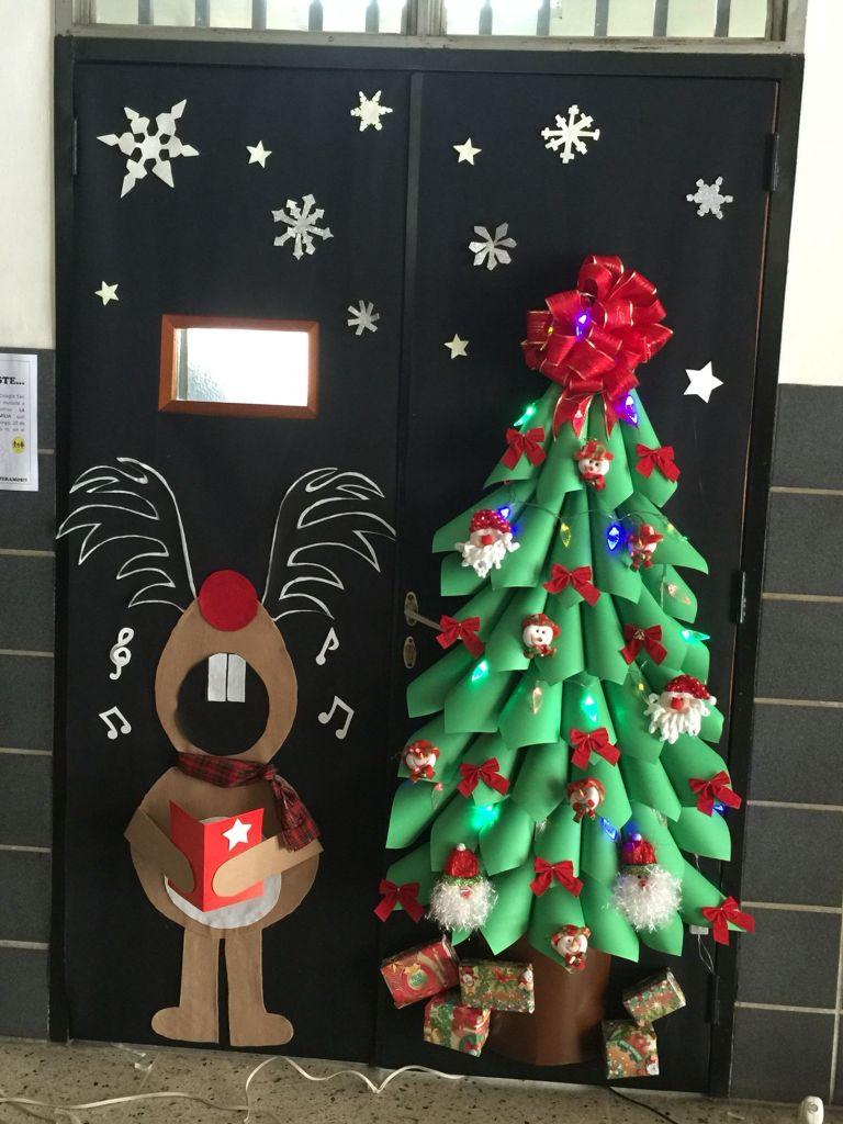 Decorar La Puerta De Tu Clase O Salón En Navidad 101 Ideas