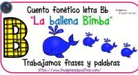 """Cuentos Fonéticos """"La ballena Bimba"""" fonema Bb"""