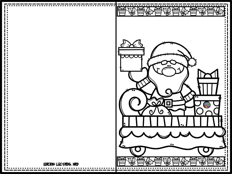 Colecci n de tarjetas navide as para colorear y regalar - Dibujos tarjetas navidenas ...