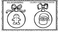 30 bolas de navidad para colorear y decorar (9 ...