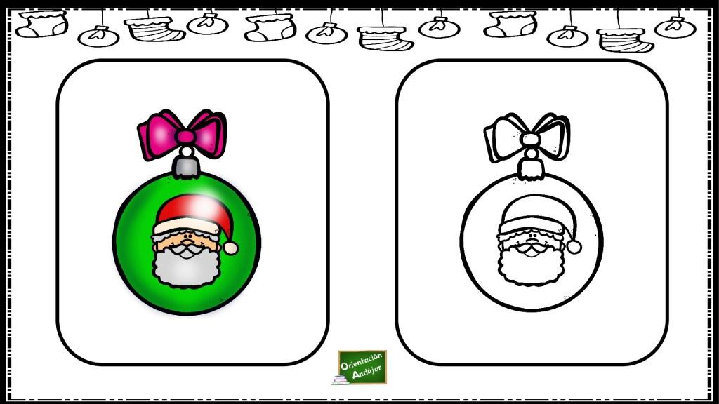 Fichas De Dibujos De Navidad.Actividad Atencion Navidad Colorea Igual Que El Modelo