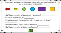 Completa actividad para trabajar la atención y la comprensión lectora a través de figura geométricas y colores. DESCARGAR ARCHIVO PDF