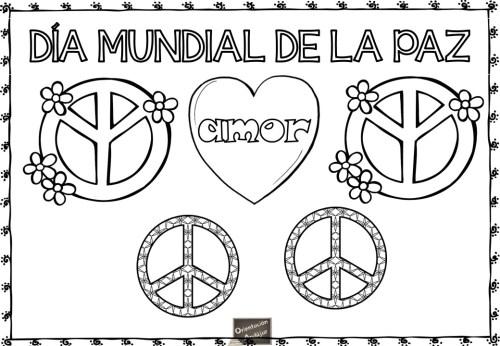 Láminas Para Decorar Y Colorear En El Día De La Paz
