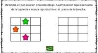 El siguiente ejercicio de memoria visual y secuencial consiste en recordar unos dibujos y la posición en la que se encuentran en una tabla para a continuación reproducirla en otra […]