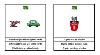 La siguiente actividad de comprensión lectora consiste en identificar de las tres opciones, la frase que corresponda con el dibujo de arriba.