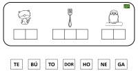 A continuación os traemos una actividad manipulativa para trabajar la conciencia silábica, en ella hay que recortar las sílabas, y pegarlas en el correcto orden para formar palabras.