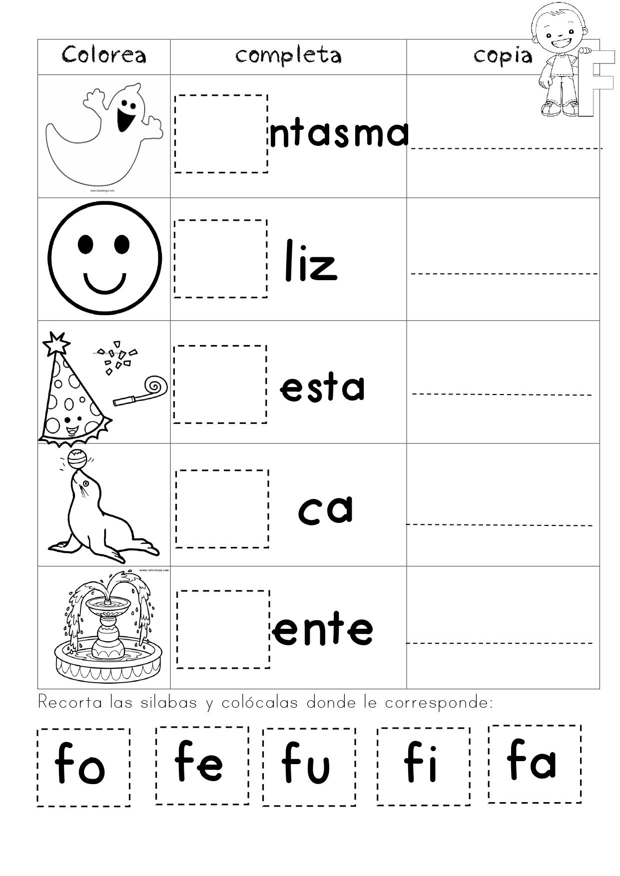 Mi Cuadernillo Para Trabajar Las Silabas Page