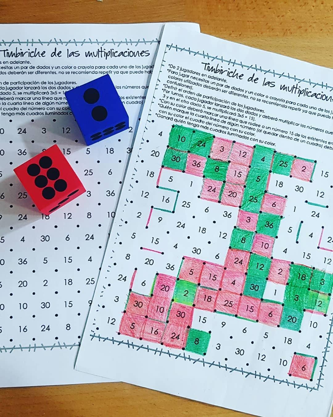 Juegos Matematicos Timbiriche De Las Multiplicaciones Orientacion Andujar