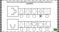 Divertida actividad para repasar las figuras geométricas, que consiste en reconocer las formas incompletas y posteriormente dibujar los trazos para terminarla.