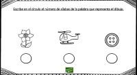 Para trabajar la conciencia silábica os presentamos el siguiente ejercicio , que consiste en contar el número de sílabas que tiene la palabra representada por el dibujo y escribirla en […]