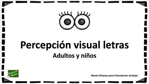 Percepción visual de letras (para niños y adultos)