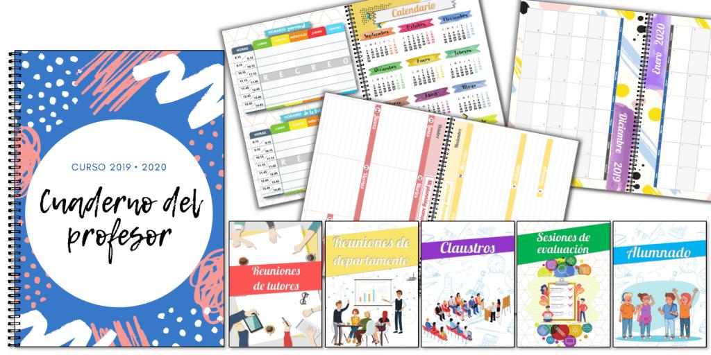 Calendario Agenda 2020 Para Imprimir.Cuaderno Del Profesor Agenda 2019 2020 Recursosep