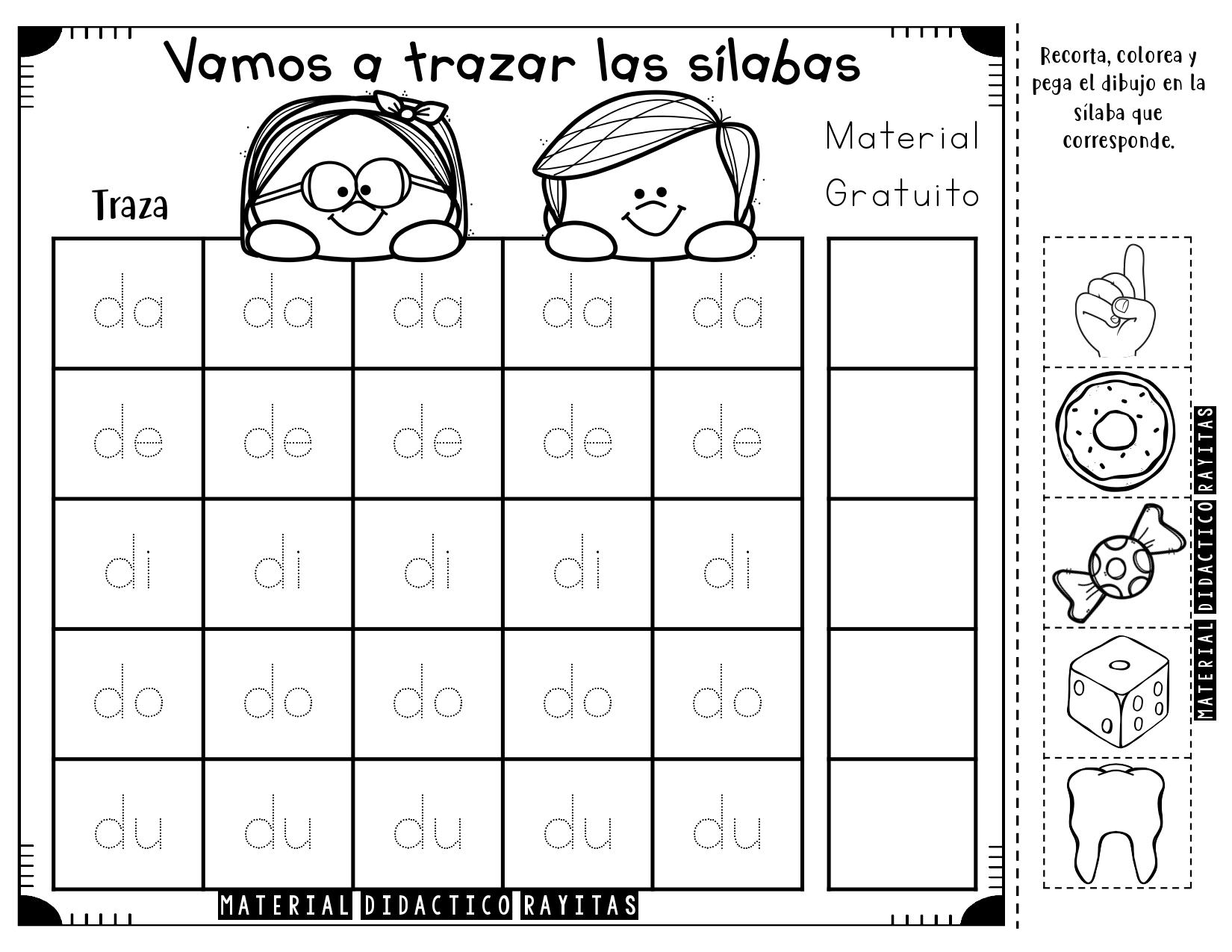 Cuadernillo Vamos A Trazar Las Silabas Simples Page