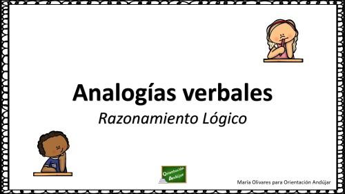 Resultado de imagen para analogias verbales