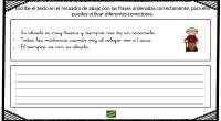 Nueva actividad para trabajar la comprensión lectora. El ejercicio consiste en escribir un texto, ordenando las frases ya dadas, si es necesario se puede utilizar diferentes conectores.