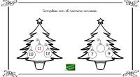 Os dejamos una sencilla actividad matemática para practicar el número anterior y posterior con unos dibujos navideños.