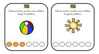 OS dejamos estas bonitas tarjetas con la que podemos trabajar el conteo de sílabas.