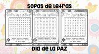 DESCARGA LOS MATERIALES EN PDF SOPA DE LETRAS DIA DE LA PAZ