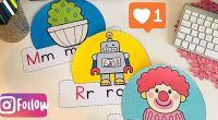 Poster recortable aprendemos el abecedario ideal para los más pequeños del colegio.