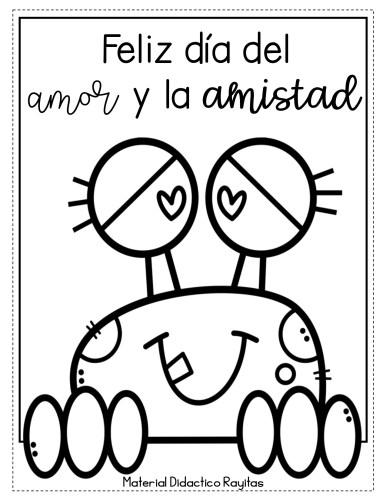 Dibujos Colorear Dia Del Amor Y Amistad Orientacion Andujar