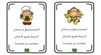La siguiente actividad está pensada para trabajar la expresión oral y la imaginación a través de las descripciones de los divertidos personajes que aparecen en las siguientes tarjetas.