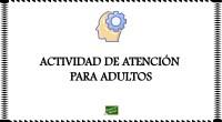 DESCARGA LA ACTIVIDAD EN PDF Estimulación cognitiva Actividad de atención para adultos