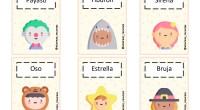 El PDF contiene:– 40 tarjetas con personajes disfrazados y palabras. – 4 tarjetas con agudas, llanas y esdrújulas.