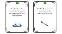 Hoy os proponemos este divertido juego para trabajar tanto estimulación cognitiva como competencia léxica; una serie de tarjetas en las que hay que nombrar tantos objetos o lo que se […]