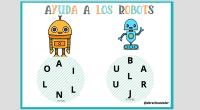 Hoy os traigo una entrada muy divertida, se trata de ayudar a los robots a formar las palabras que se les han descolocado.