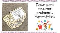 Holaaaaa!! Os dejamos unas tarjetas para trabajar los problemas matemáticas. Las podéis dejar en formato llavero. Encontraréis los pasos para resolver problemas matemáticos. Espero que os guste.