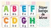 Tarjetas ABC. Tarjetas coloridas para aprender el abecedario de un forma más divertida.