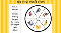 ruletas súper chulas para trabajar los sonidos vocálicos. Se trata de cinco ruletas con cada una de las vocales para superponerlas e ir girándolas para descubrir los sonidos que van […]