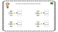 A continuación os propongo un ejercicio matemático para ejercitar las restas. El objetivo de la actividad es comprobar si la resta es correcta o no, para ello, tendrán que realizar […]
