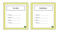 A continuación, os comparto un ejercicio en el que alumno debe analizar un verbo, para ello debe indicar el tiempo, modo, persona y número.