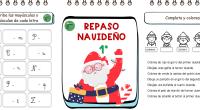 Cuadernos de Navidad con actividades para repasar durante las vacaciones de Navidad los contenidos vistos durante el primer trimestre en los diferentes cursos del primer CURSO de Educación Primaria.