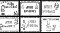 Hoy os comparto esta bonita colección de postales de Navidad listas para imprimir, colorear y regalar, del blog educativo Actividades de Infantil y Primaria.