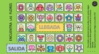 Encuentra las flores es un juego compuesto por un tablero y láminas con 4 niveles de dificultad. Los jugadores se sitúan en la casilla de salida, tiran el dado y […]