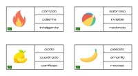 En la siguiente actividad os presentamos un dibujo junto a una colección de palabras, el objetivo del ejercicio es colorear aquella palabra que guarde relación o pueda describir a la […]