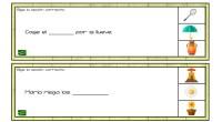 En las siguientes frases se han olvidado algunas palabras, para completarlas cuentas con la ayuda de pistas visuales. Las actividades de completar frases con una determinada palabras son tareas muy […]