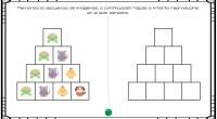 El siguiente ejercicio de memoria visual y secuencial consiste en recordar unas imágenes y la posición en la que se encuentran en una tabla para a continuación reproducirla en otra […]