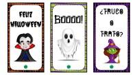 Os he diseñado estos chulísimos marcapáginas con divertido dibujos de Halloween. Una original forma de motivar a nuestros alumnos a la lectura.