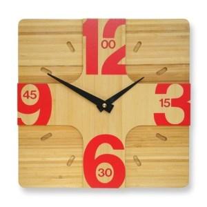Addison bamboo wall clock