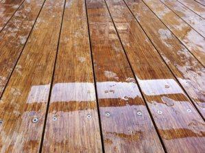 Bamboo decking - wet