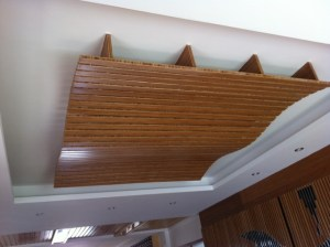 Bamboo panels used to create a feature of your ceiling