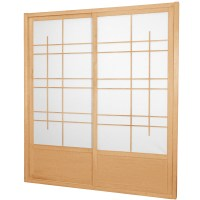 7 ft. Tall Eudes Shoji Sliding Door Kit (Double-Sided)   eBay